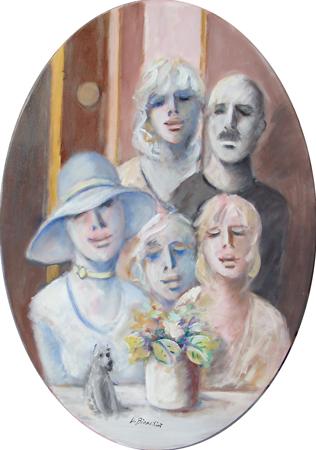 Quadro di Umberto Bianchini Foto di famiglia - olio tela