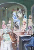 Quadro di Umberto Bianchini - Piano bar mista tela