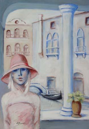 Quadro di Umberto Bianchini Balcone veneziano - mista tela