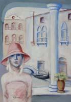 Quadro di Umberto Bianchini - Balcone veneziano mista tela