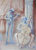 Quadro di Umberto Bianchini - Concertino mista tela