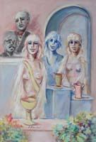 Quadro di Umberto Bianchini - La premiazione mista tela