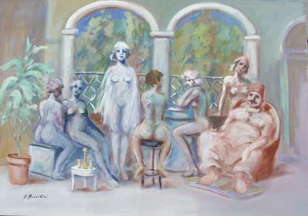 Quadro di Umberto Bianchini Harem - mista tela