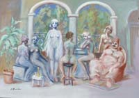 Quadro di Umberto Bianchini - Harem mista tela