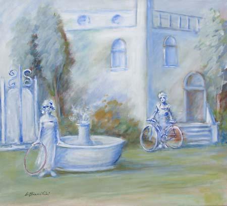 Quadro di Umberto Bianchini Il giardino sognato - mista tela