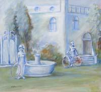 Quadro di Umberto Bianchini - Il giardino sognato mista tela