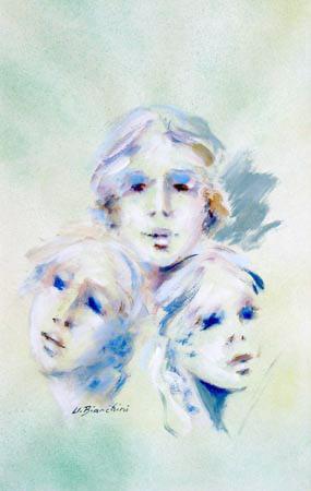 Quadro di Umberto Bianchini Trio - mista carta