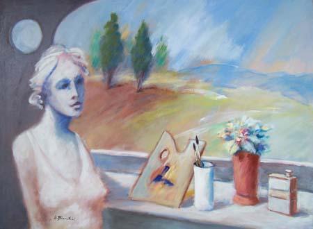 Quadro di Umberto Bianchini Finestra - Pittori contemporanei galleria Firenze Art