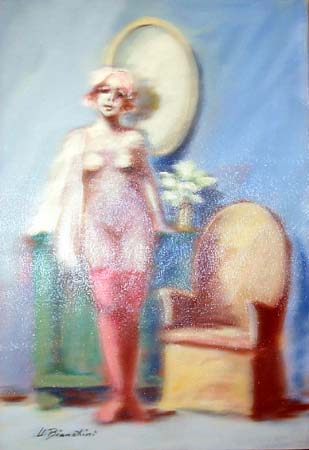 Quadro di Umberto Bianchini Interno - mista tela