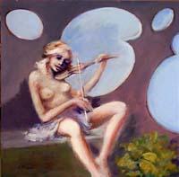Quadro di Umberto Bianchini  La violinista