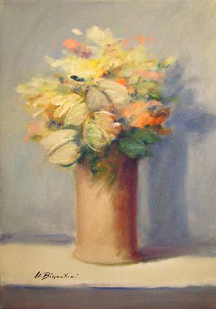 Art work by Umberto Bianchini Fiori - oil canvas