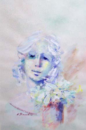 Art work by Umberto Bianchini Volto - mixed cardboard