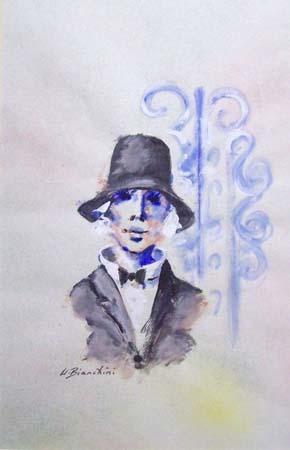 Quadro di Umberto Bianchini Cabaret - mista carta