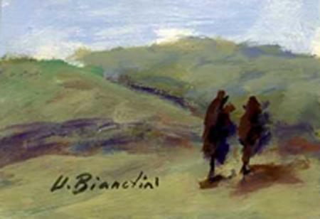 Quadro di Umberto Bianchini Paesaggio - tempera tavola