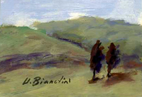 Quadro di Umberto Bianchini - Paesaggio tempera tavola