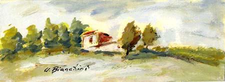 Quadro di Umberto Bianchini Toscana - tempera carta