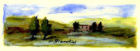 Artwork by Umberto Bianchini, varnish on paper | Italian Painters FirenzeArt gallery italian painters