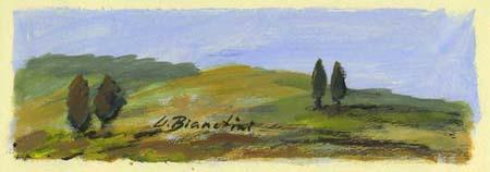 Quadro di Umberto Bianchini Alberi - tempera carta