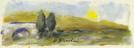 Art work by Umberto Bianchini Veduta - varnish paper