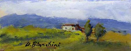 Quadro di Umberto Bianchini Casolare - Pittori contemporanei galleria Firenze Art