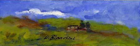 Quadro di Umberto Bianchini Verso sera - tempera tavola