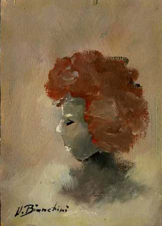 Quadro di Umberto Bianchini Volto - olio tavola