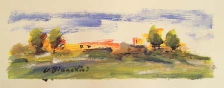 Quadro di Umberto Bianchini Colore, tempera su carta 10 x 25 | FirenzeArt Galleria d'arte