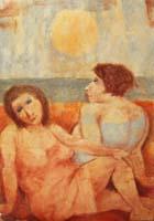 Quadro di Remo Squillantini - Figure pastello cartone