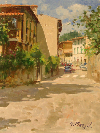 Art work by Graziano Marsili Via Benedetto Fortini - Firenze - oil table