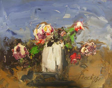 Art work by Sergio Scatizzi Fiori - oil table