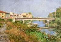 Quadro di Graziano Marsili - Ponte sulla Greve olio cartone telato
