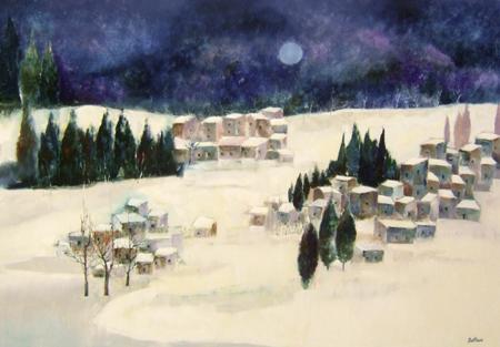 Art work by Lido Bettarini Nevicata - oil canvas