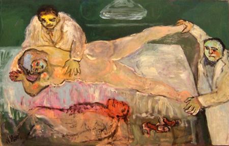 Quadro di Nadia Monti L'Ispezione - olio tela