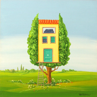 Work of Franco Lastraioli - Abitare un albero oil table