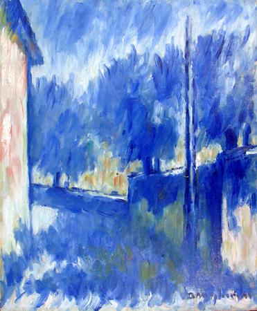 Quadro di Dino Migliorini via S.Leonardo (Firenze) - Pittori contemporanei galleria Firenze Art