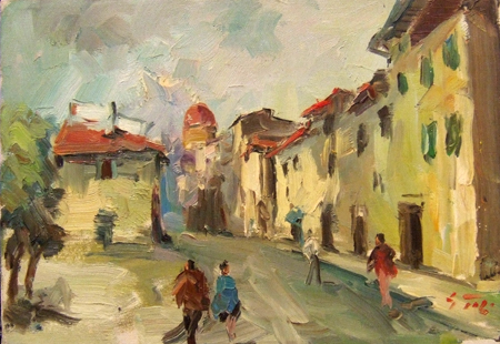Art work by Gino Tili Firenze - oil canvas