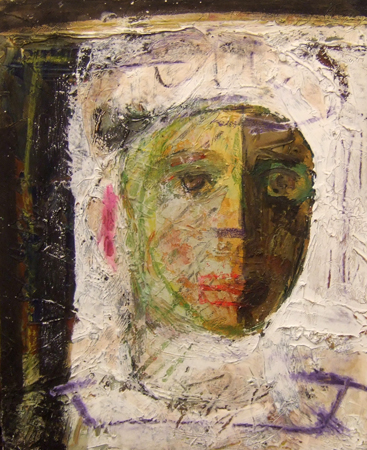 Quadro di Emanuele Cappello Volto - olio tela