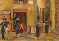 Work of Rodolfo Marma - Piazza Dei  Cimatori oil table