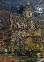 Quadro di Guido Borgianni - Cestello sotto il Chiar di Luna olio tela