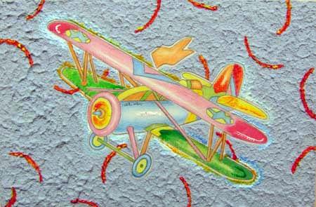 Quadro di Luca Alinari volando sopra le stelle - olio tavola