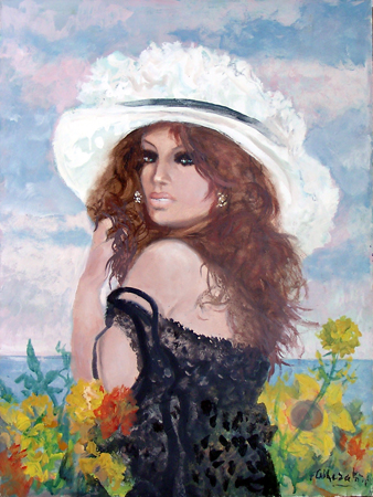 Art work by Fausto Maria Liberatore Flora - oil canvas