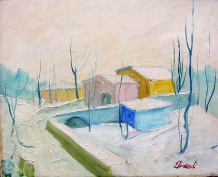 Art work by  Innocenti Nevicata - oil canvas