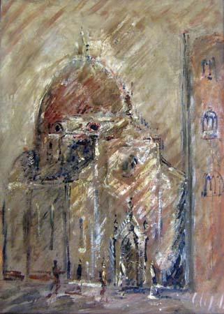 Quadro di Emanuele Cappello Chiesa - olio tela