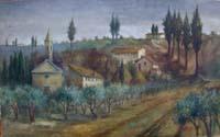 Quadro di L. Morelli - Paesaggio olio tela