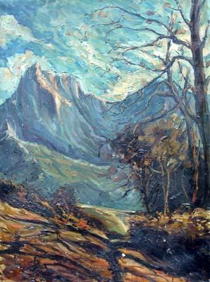 Quadro di  Vanni Paesaggio - olio tela
