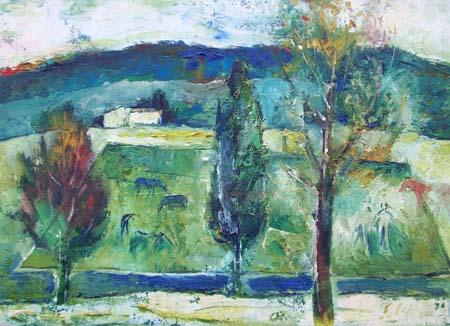 Quadro di Emanuele Cappello Paesaggio - olio tela