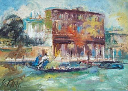 Quadro di Emanuele Cappello Laguna - olio tela