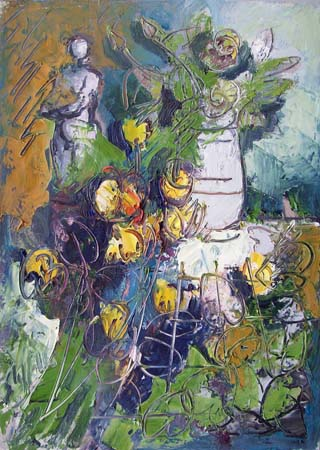 Art work by Emanuele Cappello Fiori - oil canvas