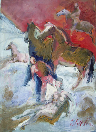 Art work by Emanuele Cappello Cavalieri - oil canvas