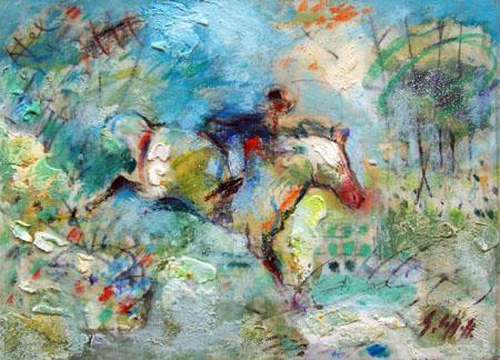 Quadro di Emanuele Cappello Muro di pietra - olio tela